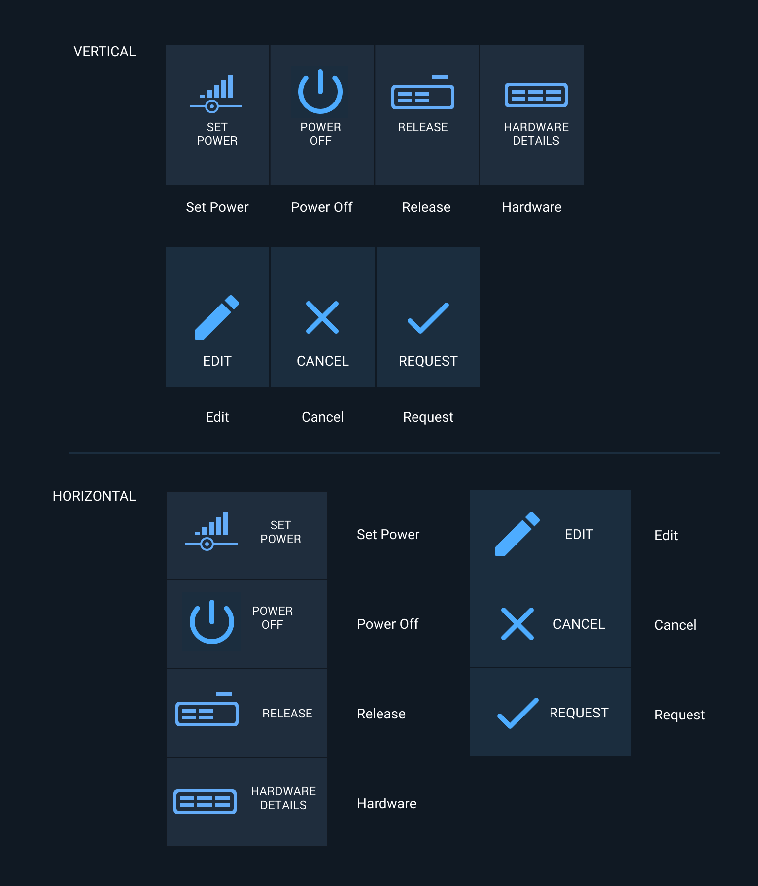 Examples of Astro Action Icons