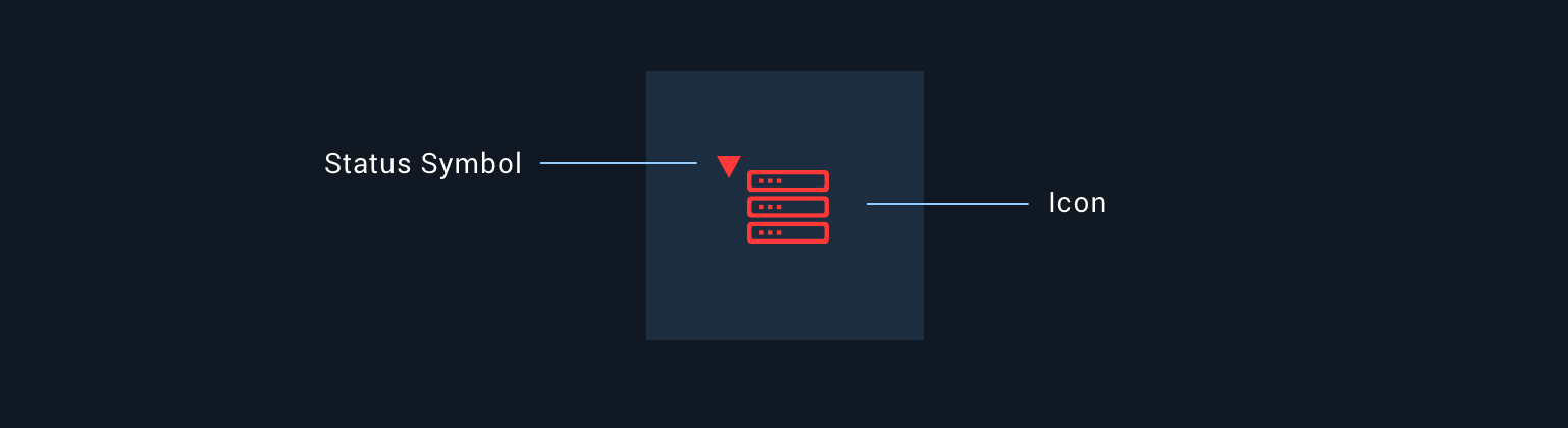 Anatomy of a Monitoring Icon with status